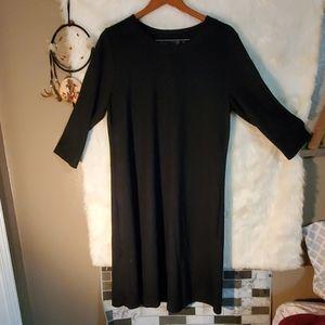 Like new large black classy long sleeve dress fall